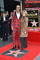 RuPaul &amp; Jane Fonda at the Hollywood Walk of Fame Star Ceremony honoring TV drag star RuPaul on Hollywood Boulevard, Los Angeles, USA 16 March 2018<br /> Picture: Paul Smith/Featureflash/SilverHub 0208 004 5359 sales@silverhubmedia.com