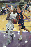NWA Democrat-Gazette/ANDY SHUPE<br /> of Fayetteville of Heritage Tuesday, Feb. 13, 2018, during the first half of play in Bulldog Arena in Fayetteville. Visit nwadg.com/photos to see more photographs from the games.