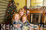 Twins Kayla and Kirsten at home with their mother Deirdre McGaley in Castleisland.