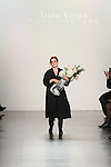 Fashion designer Irina Vitjaz thanks audience for attending her Irina Vitjaz Fall Winter 2017 collection fashion show, at Skylight Clarkson Square on February 15, 2017; during NYFW: The Shows Fall Winter 2017.