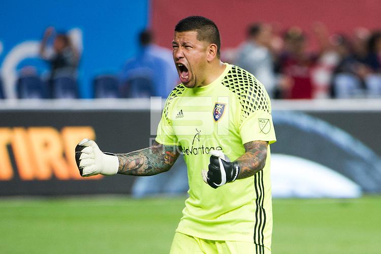 BRONX, NY - Thursday June 02, 2016: New York City FC loses 2-3 to Real Salt Lake at home at Yankee Stadium in regular season MLS play.