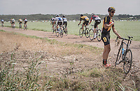 Jelle Goderis (BEL/3M) crashed into a ditch &amp; broke his derailleur off<br /> <br /> 91th Schaal Sels 2016