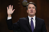 WASHINGTON, DC - SEPTEMBER 27:  Judge Brett Kavanaugh is sworn in before testifying to the Senate Judiciary Committee during his Supreme Court confirmation hearing in the Dirksen Senate Office Building on Capitol Hill September 27, 2018 in Washington, DC. Kavanaugh was called back to testify about claims by Christine Blasey Ford, who has accused him of sexually assaulting her during a party in 1982 when they were high school students in suburban Maryland.  (Photo by Win McNamee/Getty Images)
