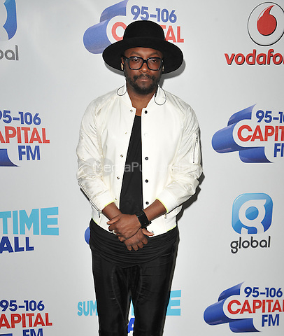 Will.i.am at the Capital FM Summertime Ball in aid of the Help a London Child charity, Wembley Stadium, Wembley, London, England, UK, on Saturday 11 June 2016.<br /> CAP/CAN<br /> &copy;CAN/Capital Pictures /MediaPunch ***NORTH AND SOUTH AMERICA ONLY***