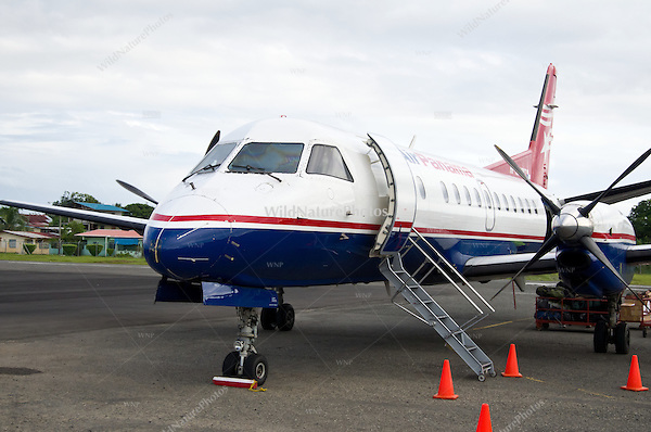 Commercial airplane, Air Panama, Bocas del Toro Airport,  Panama