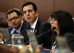 Nevada Sen. Ruben Kihuen, D-Las Vegas, works in committee at the Legislative Building in Carson City, Nev., on Tuesday, Feb. 12, 2013..Photo by Cathleen Allison