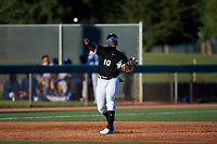 AZL White Sox third baseman Bryan Ramos (10) throws to first base during an Arizona League game against the AZL Royals at Camelback Ranch on June 19, 2019 in Glendale, Arizona. AZL White Sox defeated AZL Royals 4-2. (Zachary Lucy/Four Seam Images)