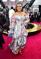Andra Day arrives at the Oscars on Sunday, March 4, 2018, at the Dolby Theatre in Los Angeles. (Photo by Charles Sykes/Invision/AP)