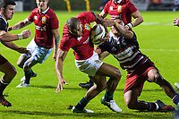Jonathan Joseph charges at the tryline at the end of the second half during the 2017 DHL Lions Series rugby union match between the NZ Provincial Barbarians and British & Irish Lions at Toll Stadium in Whangarei, New Zealand on Saturday, 3 June 2017. Photo: Dave Lintott / lintottphoto.co.nz