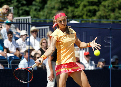 June 18th 2017, The Northern Lawn tennis Club, Manchester, England; ITF Womens tennis tournament; Number seven seed Aleksandra Krunic (SRB) in action during her singles final match against Zarina Dyas (KAZ); Dyas won in straight sets