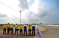 May 1, 2011; Baytown, TX, USA: NHRA safety safari during the Spring Nationals at Royal Purple Raceway. Mandatory Credit: Mark J. Rebilas-