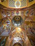 Ceiling iconography of the Rakovica monastery, Serbia, created by Iconographer Rade Sarić