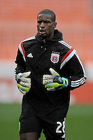 Washington, D.C.- March 29, 2014. Bill Hamid (28) of D.C. United. The Chicago Fire tied D.C. United 2-2 during a Major League Soccer Match for the 2014 season at RFK Stadium.