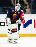 Stockholm 2014-08-21 Ishockey CHL Djurg&aring;rdens IF - Fribourg-Gotteron  :  <br /> Djurg&aring;rdens m&aring;lvakt goalkeeper Mikael Tellqvist  <br /> (Foto: Kenta J&ouml;nsson) Nyckelord:  Djurg&aring;rden Hockey Hovet CHL Fribourg Gotteron portr&auml;tt portrait