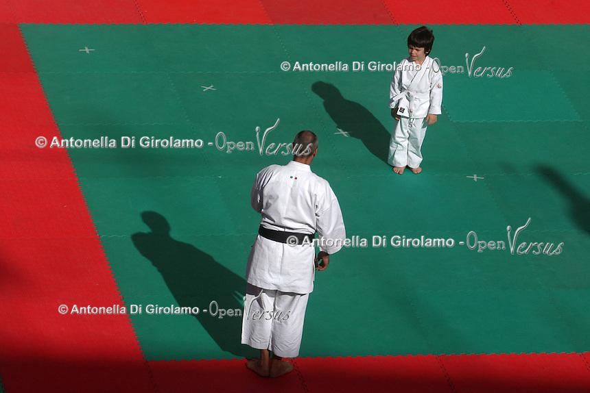 Esibizione di Karate in Piazza. Exhibition of Karate on Square...