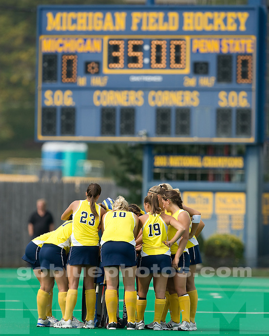 University of Michigan field hockey victory (2-0) over Penn State at Ocker Field on 9/27/09.