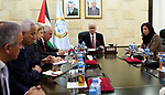 Palestinian Prime Minister, Rami Hamdallah meets with the Palestinian businessmen, in the West Bank city of Ramallah, on March 03, 2019. Photo by Prime Minister Office