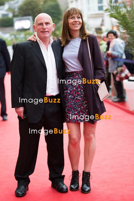 Gary Lewis &amp; Kate Dickie lors de la soir&eacute;e d'ouverture du 27&egrave;me Festival du film britannique de Dinard. <br /> France, Dinard, 29 septembre 2016.<br /> Opening night of 27th Edition of the Dinard British Film Festival.<br /> France, Dinard, 29 September 2016.