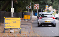 BNPS.co.uk (01202 558833)<br /> Pic: RogerArbon/BNPS<br /> <br /> Bungling highways officials have been left red-faced after putting up roadwork signs with a glaring spelling mistake.<br /> <br /> Eagle-eyed motorists had a good giggle when they spotted traffic management company Hooke Highways' howler warning of a 'parking suspention'.<br /> <br /> The three signs with the spelling mistake went up in the Parkstone Road area of Poole, Dorset, on Monday, where SGN are starting 18 weeks of work upgrading the gas network.<br /> <br /> Eyewitness John Baker said: &quot;I couldn't believe it when I saw it, I did a bit of a double-take. But as I drove on I spotted another sign with the same mistake.
