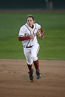 15 February 2008: Stanford Cardinal Maddy Coon during Stanford's 11-0 win against the Wichita State Shockers in the Stanford Invitational I at the Boyd and Jill Smith Family Stadium in Stanford, CA.