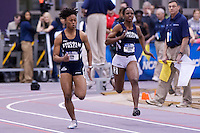 Latoya King and Nickeisha Beaumont 60 meter prelims