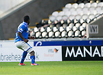 St Mirren v St Johnstone...19.10.13      SPFL<br /> Nigel Hasselbaink scores to make it 2-2<br /> Picture by Graeme Hart.<br /> Copyright Perthshire Picture Agency<br /> Tel: 01738 623350  Mobile: 07990 594431