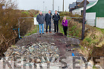 Sinn Féin representatives pictured at Doora Bridge, Portmagee on Friday were l-r; John Buckley, Cllr. Damian Quigg, Pól Ó Clúbháin & Cllr. Toireasa Ferris.