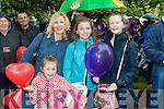 Carrie and Edith Nugent with Caoimhe Fagan and Blaithin Nugent, all from Dublin, , pictured at the Balloon release in Tralee Town Park on Sunday last.
