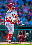 30 July 2017: Washington Nationals outfielder Bryce Harper in action against the Colorado Rockies at Nationals Park in Washington, DC. The Rockies defeated the Nationals 10-6 in the second game of their 3-game weekend series. Mandatory Credit: Ed Wolfstein Photo *** RAW (NEF) Image File Available ***