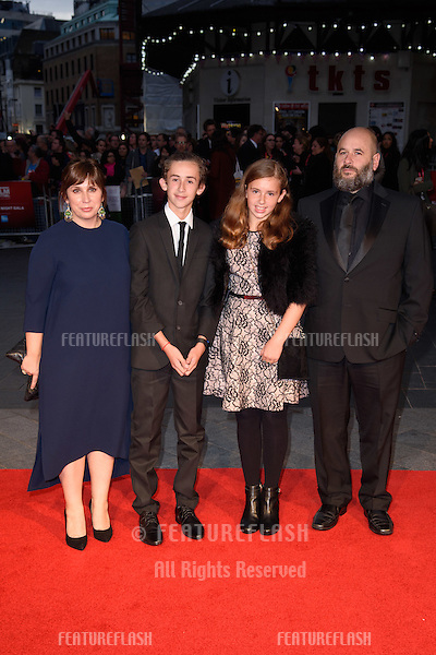 Abi Morgan at the BFI London Film Festival premiere of &quot;Suffragette&quot; at the Odeon Leicester Square, London.<br /> October 7, 2015  London, UK<br /> Picture: Steve Vas / Featureflash