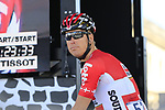 Lars Ytting Bak (DEN) Lotto-Soudal at sign on for the 115th edition of the Paris-Roubaix 2017 race running 257km Compiegne to Roubaix, France. 9th April 2017.<br /> Picture: Eoin Clarke | Cyclefile<br /> <br /> <br /> All photos usage must carry mandatory copyright credit (&copy; Cyclefile | Eoin Clarke)