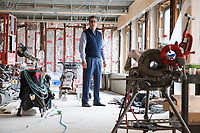 Owner George Filopoulos is seen in a gutted restaurant space at Gurney's Newport Resort and Marina, which was formerly a Hyatt Regency hotel, on Goat Island in Newport, Rhode Island, on Wed., April 19, 2017. The entire hotel will be renewed with an approximately $18 million renovation to be completed by Memorial Day 2017. The restaurant space, previously housing the Hyatt's Windward Restaurant, will be the location of a new Scarpetta restaurant, an Italian restaurant with locations around the US. The renovation is intended to increase the volume and space of the restaurant.