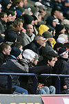 Bolton Wanderers 1  Blackburn Rovers 2, 17/03/2007. Reebok Stadium, Premiership. Bolton Wanderers playing Blackburn Rovers in a Premiership match at the Reebok stadium, Bolton. The home side were challenging for one of the Champions' League placings but it was Rovers who ran out 2-1 winners. Both Rovers' goals were scored from the penalty spot by Benni McCarthy. Picture shows Bolton fans looking as gloomy as the weather. Photo by Colin McPherson.