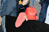 A young boy rests his head on a crowd control barrier after President-elect Donald Trump left the ballroom in the Midtown Hilton at the election night victory rally for Republican presidential nominee Donald Trump, after the race was called for Trump in the early hours of Nov. 9, 2016.