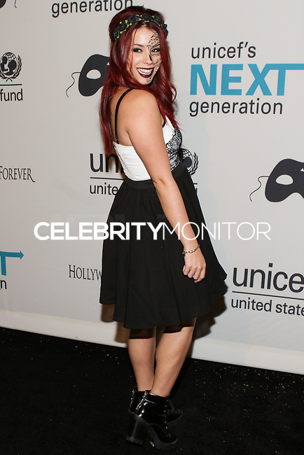HOLLYWOOD, LOS ANGELES, CA, USA - OCTOBER 30: Jillian Rose Reed arrives at UNICEF's Next Generation's 2nd Annual UNICEF Masquerade Ball held at the Masonic Lodge at the Hollywood Forever Cemetery on October 30, 2014 in Hollywood, Los Angeles, California, United States. (Photo by Rudy Torres/Celebrity Monitor)