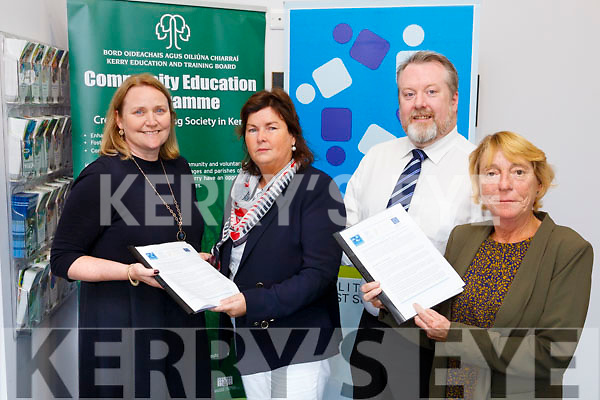 Kerry ETB  Launch a new initiative for parents of disabled children. Pictured l-r Alice Griffin, DESSA, Siobhan Shanahan, AEO kerry education training board, Owen O'Donnell, Director Of Further Education And Training At Kerry ETB, Jackie Brown, Chairperson of DESSA