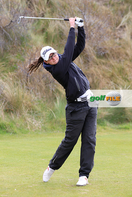 Liana Bailey (England) on the 6th tee during the final round of the Irish woman's Open stroke play championship, The Island Golf Club, Donate, Co Dublin. 10/04/2016.<br /> Picture: Golffile | Fran Caffrey<br /> <br /> <br /> All photo usage must carry mandatory copyright credit (&copy; Golffile | Fran Caffrey)