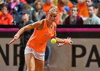 Februari 07, 2015, Apeldoorn, Omnisport, Fed Cup, Netherlands-Slovakia, Arantxa Rus (NED)   <br /> Photo: Tennisimages/Henk Koster