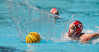 Stanford, CA - April 28, 2019: Ryann Neushul during the Stanford vs USC MPSF Women's Water Polo Championship Sunday at the Avery Aquatic Center.<br /> <br /> No. 1 Stanford lost the MPSF Championship in sudden death to the No. 2 Trojans, 9-8.