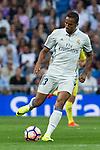 Real Madrid's Danilo Luiz da Silva during the match of La Liga between Real Madrid  and Villarreal Club de Futbol at Santiago Bernabeu Estadium in Madrid. September 21, 2016. (ALTERPHOTOS/Rodrigo Jimenez)
