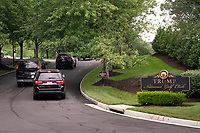 United States President Donald J. Trump's motorcade enters the Trump National Golf Club in Sterling, Virginia, U.S., on Saturday, August 1, 2020. <br /> Credit: Erin Scott / Pool via CNP /MediaPunch