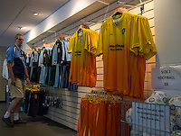 The Wycombe shirts on sale in the Club shop during the Sky Bet League 2 match between Wycombe Wanderers and York City at Adams Park, High Wycombe, England on 8 August 2015. Photo by Andy Rowland.