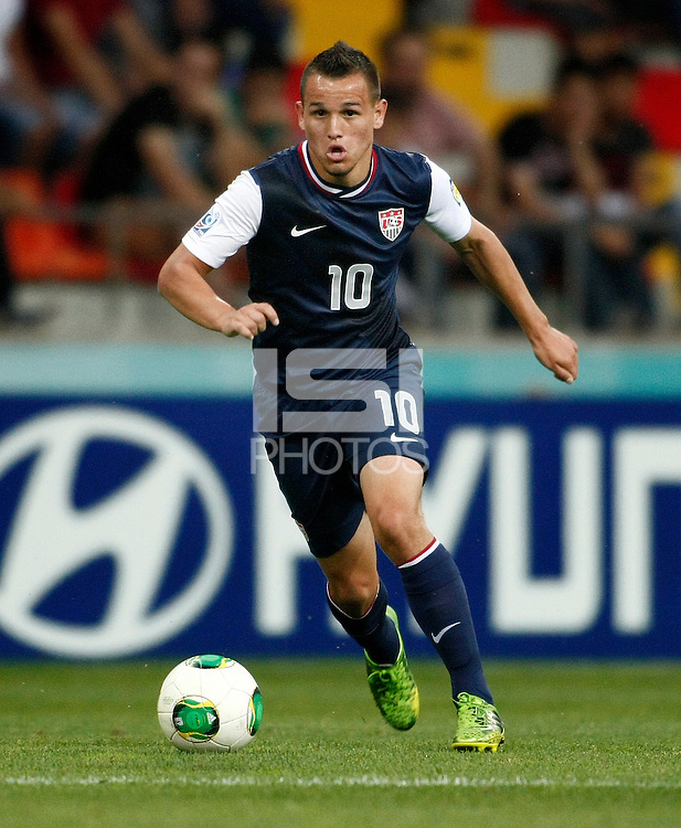USA's Luis Gil during their FIFA U-20 World Cup Turkey 2013 Group Stage Group A soccer match Ghana betwen USA at the Kadir Has stadium in Kayseri on June 27, 2013. Photo by Aykut AKICI/isiphotos.com