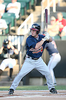 July 2, 2009: Mississippi Braves outfielder Matt Young (6) at Pringles Park in Jackson, TN. The Mississippi Braves are the Southern League AA affiliate of the Atlanta Braves. Photo by: Chris Proctor/Four Seam Images