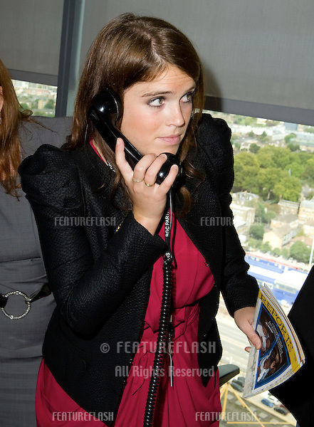 Princess Eugenie takes to the trading floor at BGC in Canary Wharf as part of the fundraising day set up after the 9/11 terrorist attacks. 12/09/2011 Picture by: Simon Burchell / Featureflash