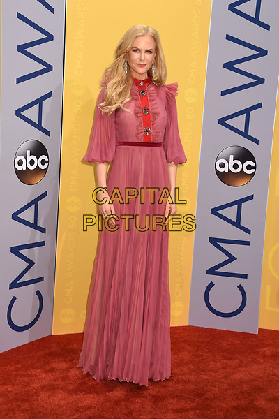 02 November 2016 - Nashville, Tennessee - Nicole Kidman. 50th Annual CMA Awards. Then. Now. Forever Country. 2016 CMA Awards, Country Music's Biggest Night. Arrivals held at Music City Center. <br /> CAP/ADM/LF<br /> &copy;LF/ADM/Capital Pictures