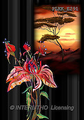 Kris, ETHNIC, paintings,+savanna, flowers++++,PLKKE291,#ethnic# Africa
