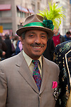 A man in his Sunday best clothing, worn in the New York City Easter Parade