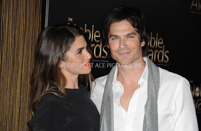 WWW.ACEPIXS.COM<br /> <br /> February 27 2015, LA<br /> <br /> Nikki Reed and Ian Somerhalder arriving at the 3rd Annual Noble Awards at The Beverly Hilton Hotel on February 27, 2015 in Beverly Hills, California.<br /> <br /> <br /> By Line: Peter West/ACE Pictures<br /> <br /> <br /> ACE Pictures, Inc.<br /> tel: 646 769 0430<br /> Email: info@acepixs.com<br /> www.acepixs.com