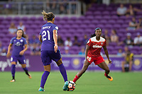 Orlando, FL - Tuesday August 08, 2017: Monica Hickmann Alves during a regular season National Women's Soccer League (NWSL) match between the Orlando Pride and the Chicago Red Stars at Orlando City Stadium.